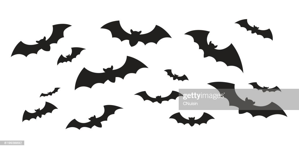 Bat icon vector doodle illustration