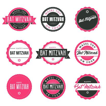 Bat Mitzvah Icon Set - gettyimageskorea