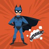 Bat superhero cartoon