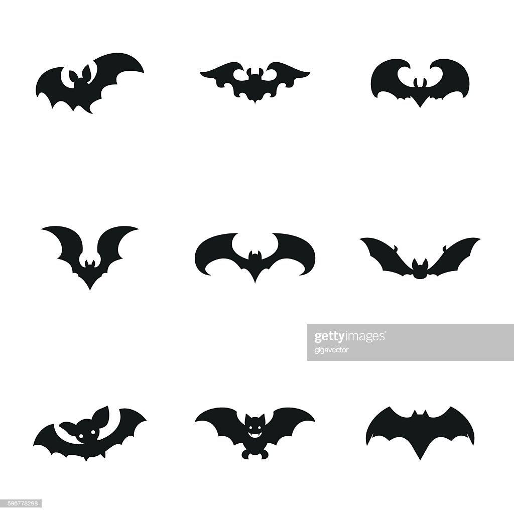 Bat vector icons