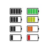 Batery icon, vector flat design