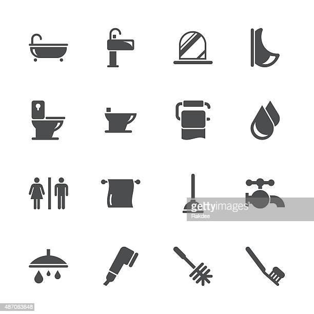 バスルームとバスルームのグレーシリーズ