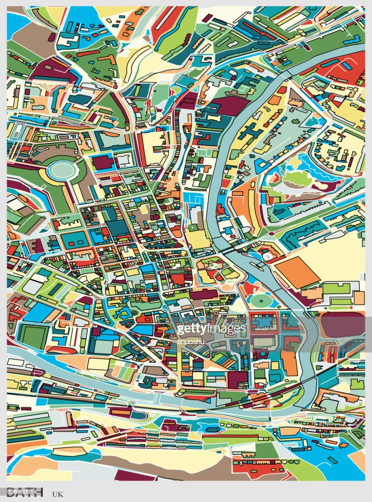 Bath City Of England Art Map Vector Art Getty Images