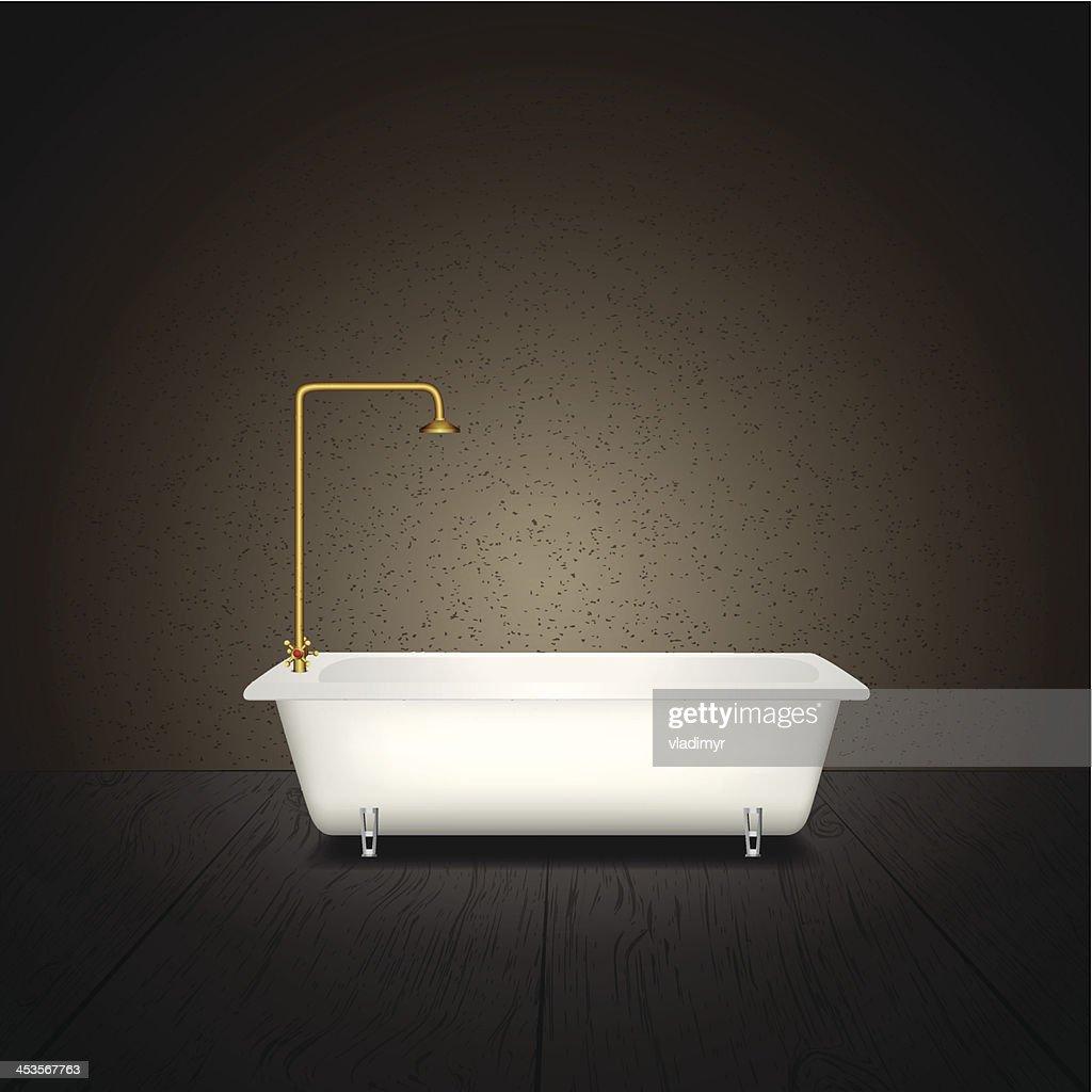 Bath on grey background