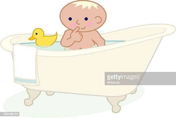 ilustraciones, imágenes clip art, dibujos animados e iconos de stock de tiempo de baño - bañera con patas