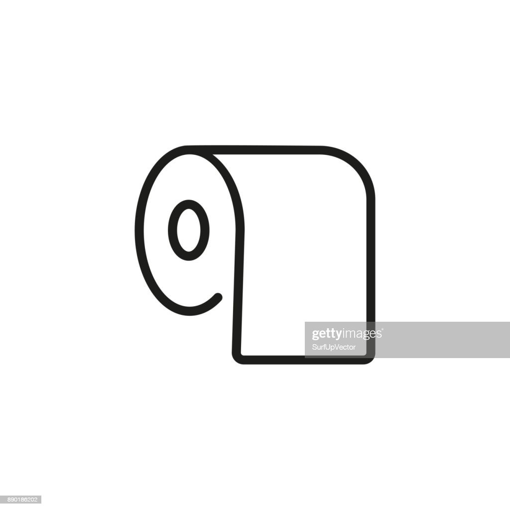 Bath tissue line icon