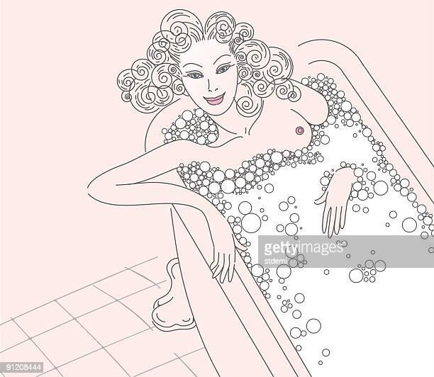 ilustraciones, imágenes clip art, dibujos animados e iconos de stock de el baño - bañera con patas