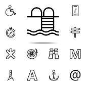 bathing place icon. Navigation icons universal set for web and mobile