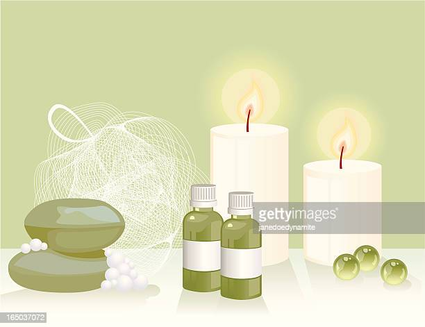 bathroom composition - aromatherapy stock illustrations, clip art, cartoons, & icons