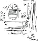 Bathroom drawing.