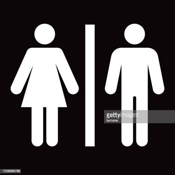 bathroom glyph icon - male likeness stock illustrations