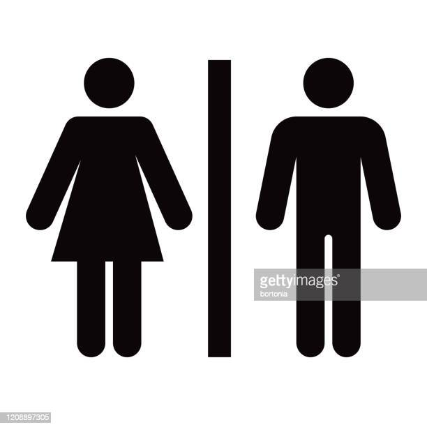 bathroom glyph icon - females stock illustrations