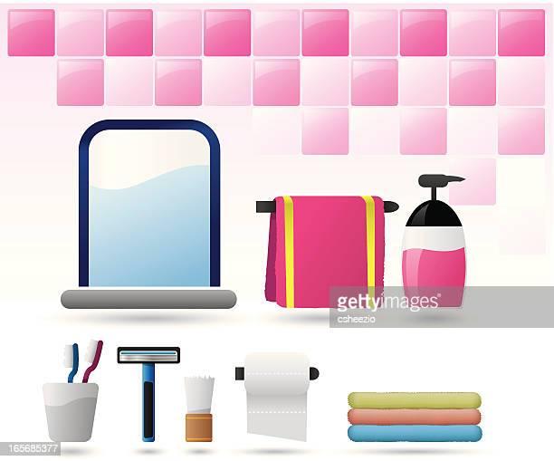 bathroom icon set ii - bathroom stock illustrations, clip art, cartoons, & icons