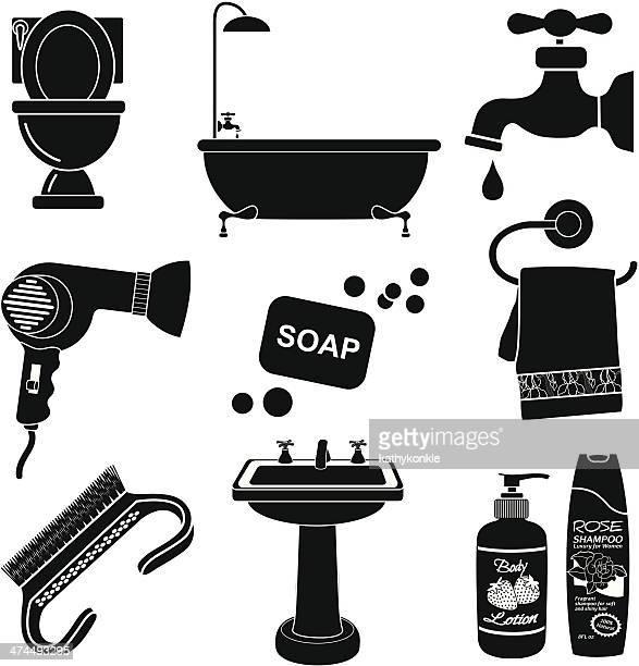 ilustraciones, imágenes clip art, dibujos animados e iconos de stock de icono de baño - bañera con patas