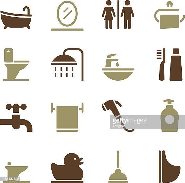 バスルームのアイコン-色のシリーズ