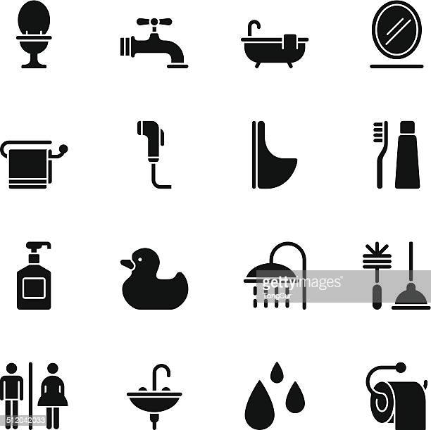 Bathroom icons - Regular Black