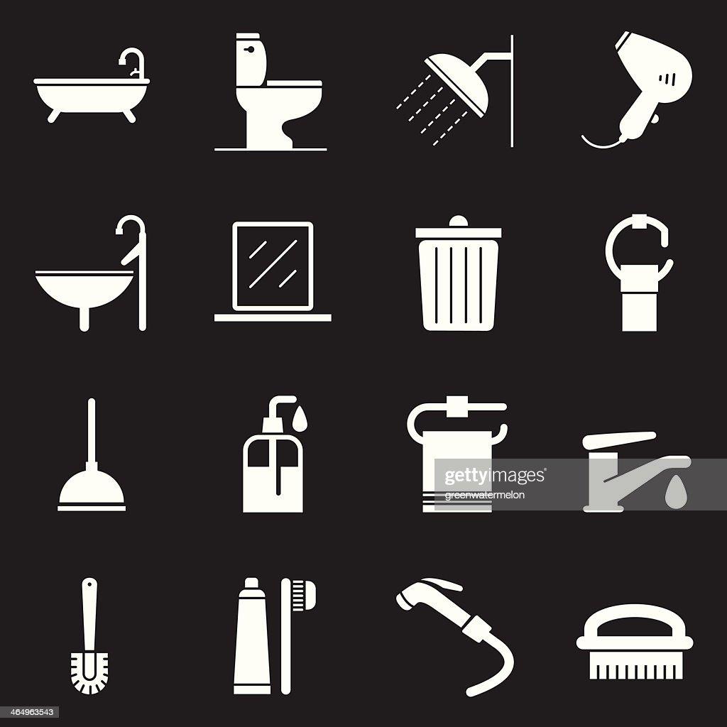 Bathroom Icons | White Series