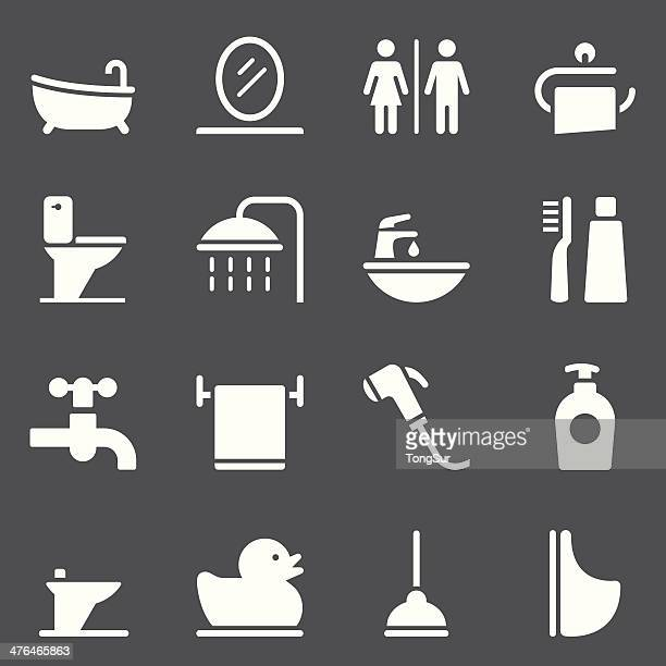 Bathroom Icons - White Series
