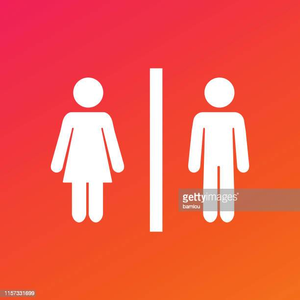 Girls Bathroom Signs Stock Illustrations Getty Images