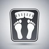 Bathroom scales icon, vector