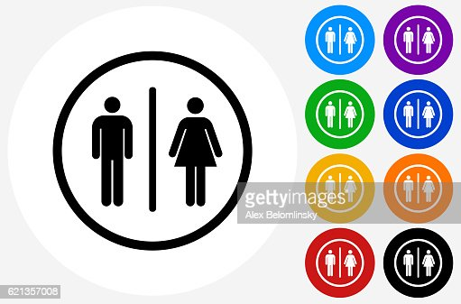 Bathroom Sign Vector Design bathroom sign icon flat graphic design vector art | getty images