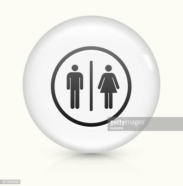 Bathroom Sign icon on white round vector button