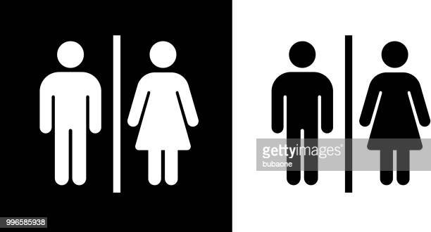 bathroom sign icon - toilet sign stock illustrations, clip art, cartoons, & icons