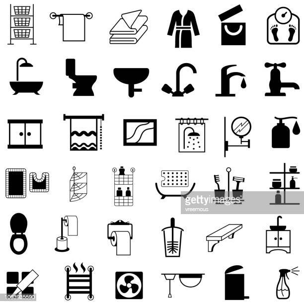 Bathroom, Washroom and Toilet Housewares Products Icons