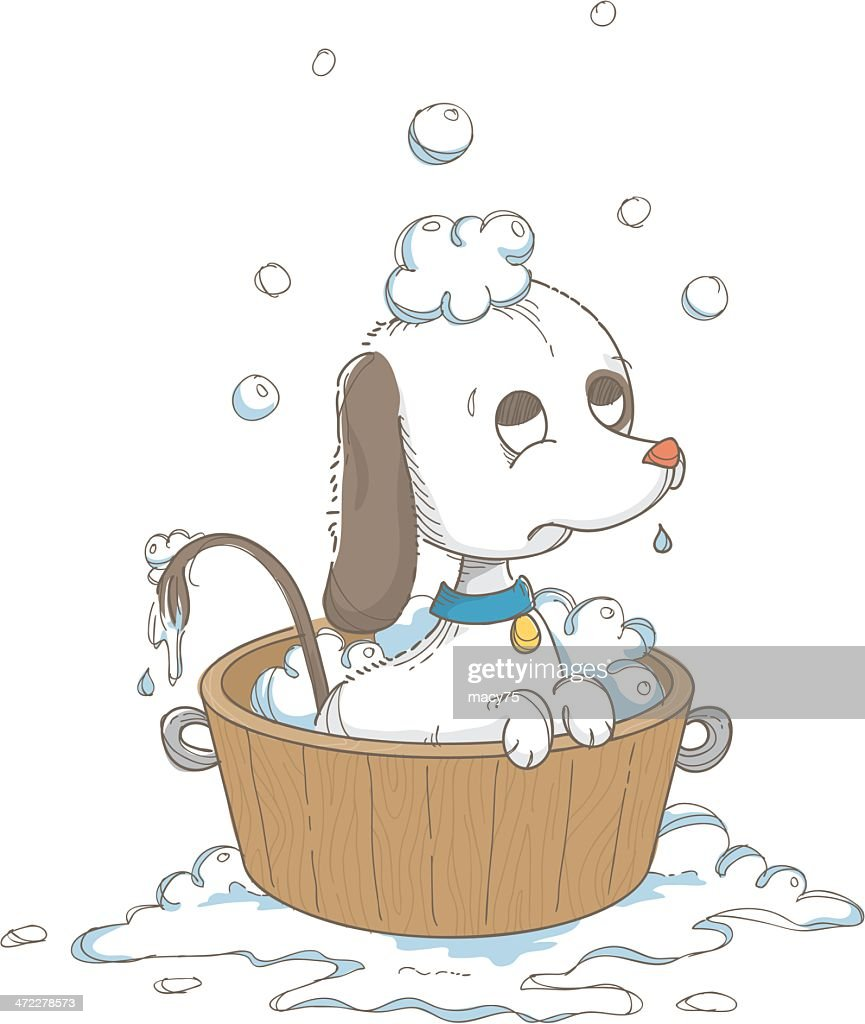 Bathtub dog