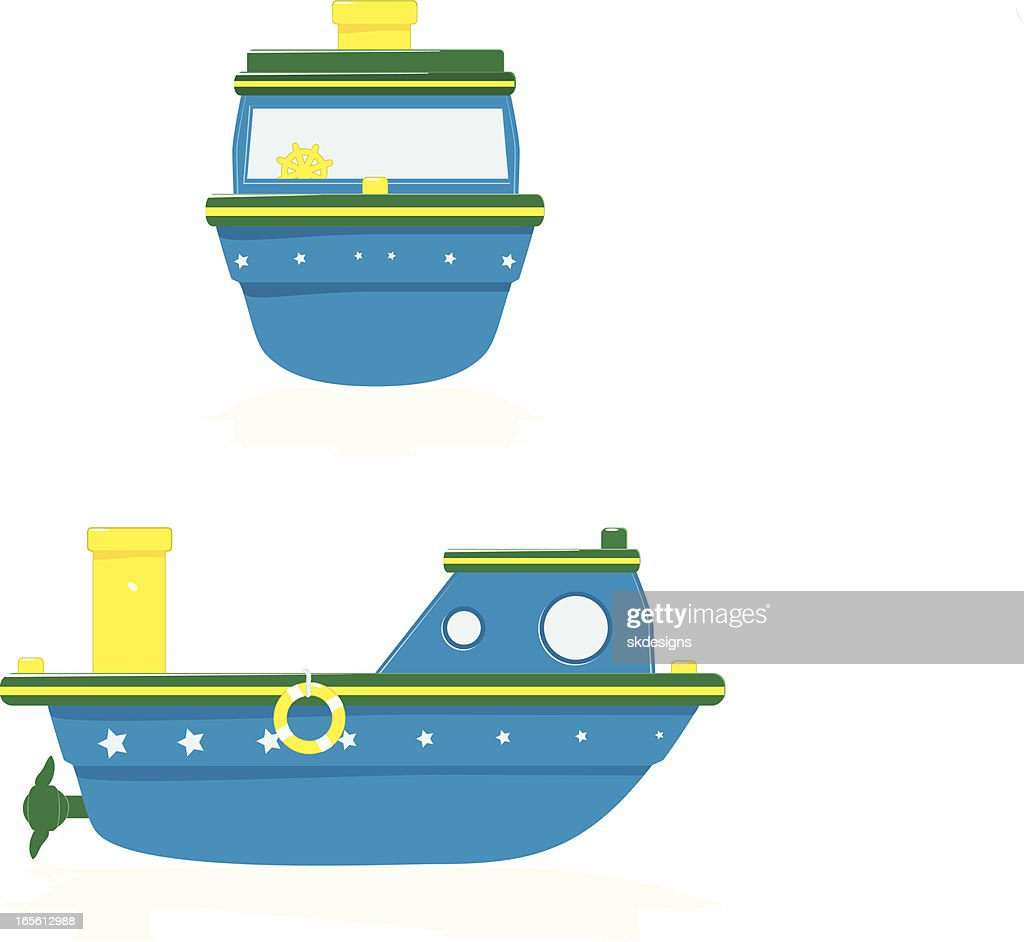 Bathtub Toy Boats Front And Side Views Vector Art | Getty Images