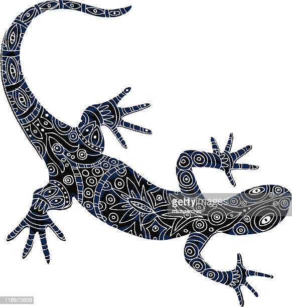 batik lizard - chameleon stock illustrations, clip art, cartoons, & icons