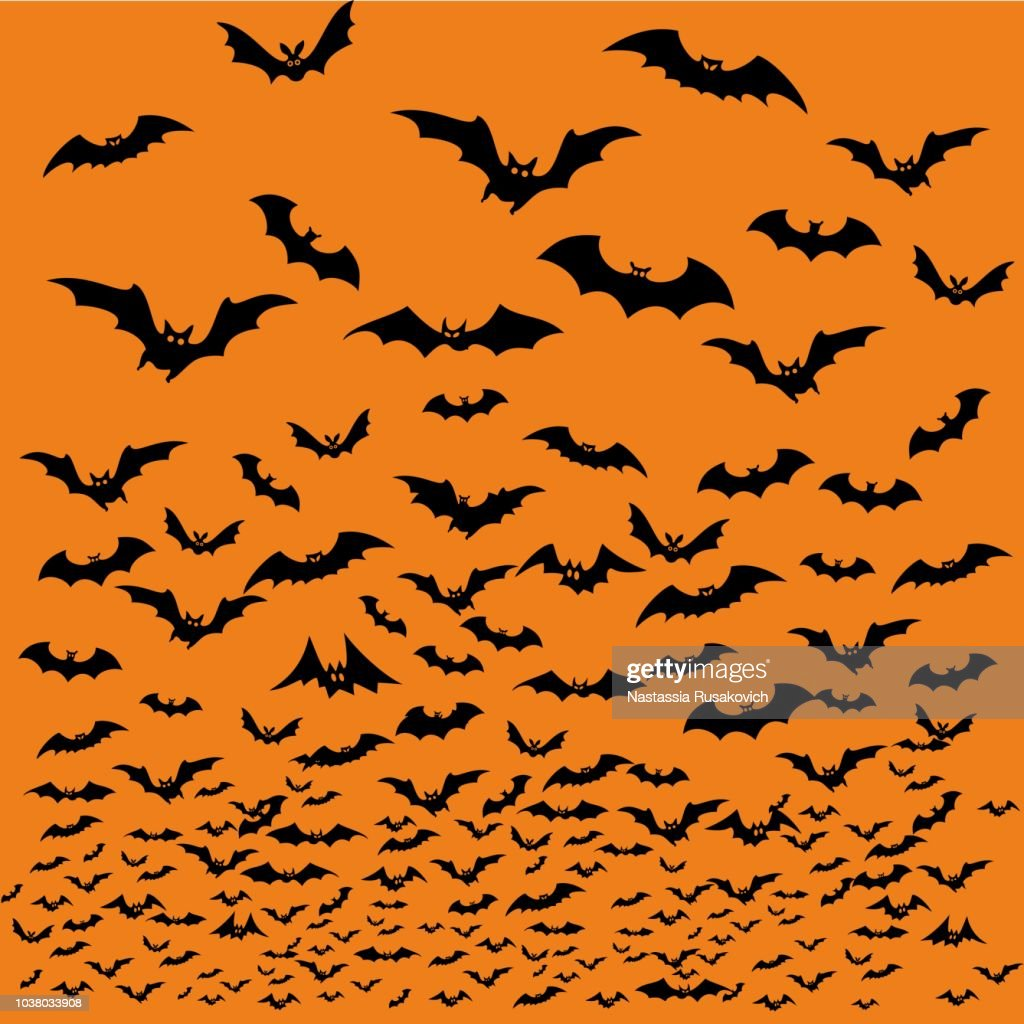 Bats silhouettes for Halloween.