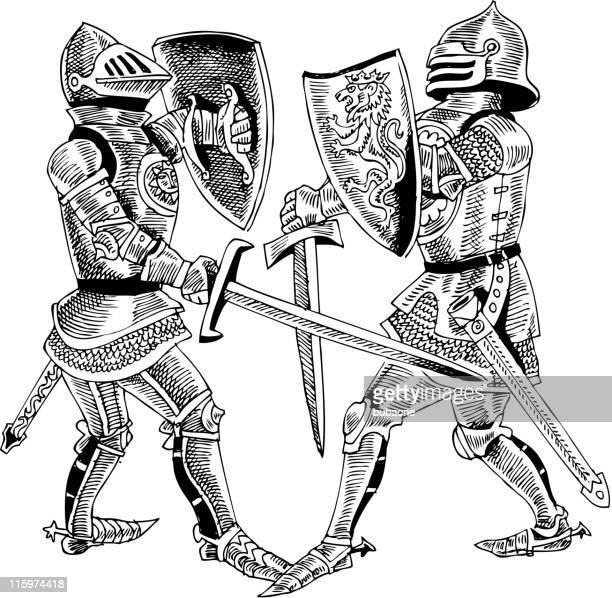 Batteling Knights