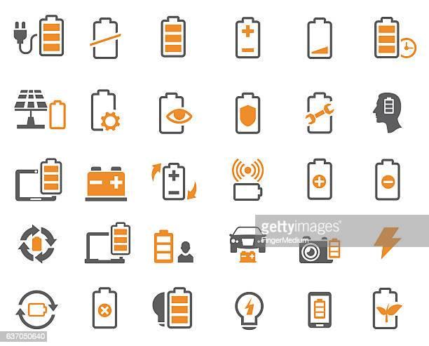 電池アイコン - チャージする点のイラスト素材/クリップアート素材/マンガ素材/アイコン素材