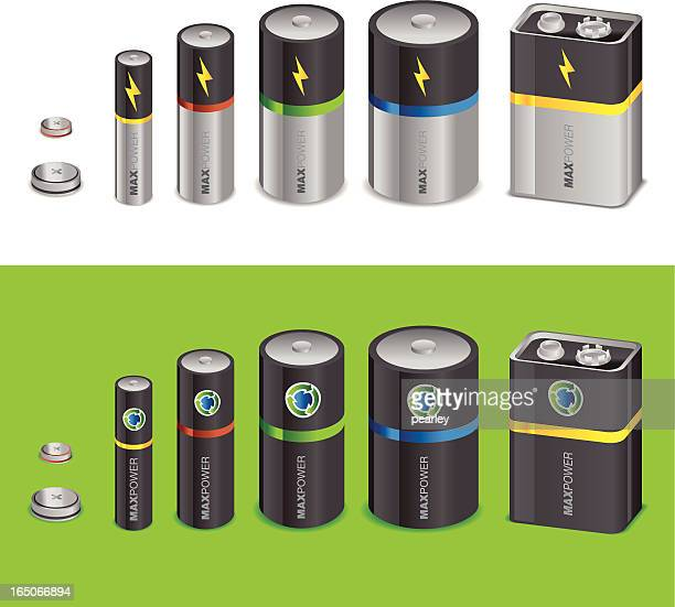 batteries - alkaline stock illustrations