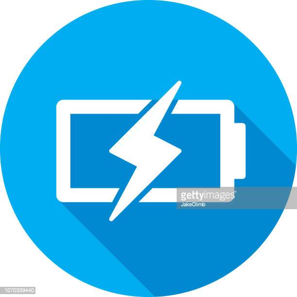 battery charge icon silhouette - electric plug stock illustrations