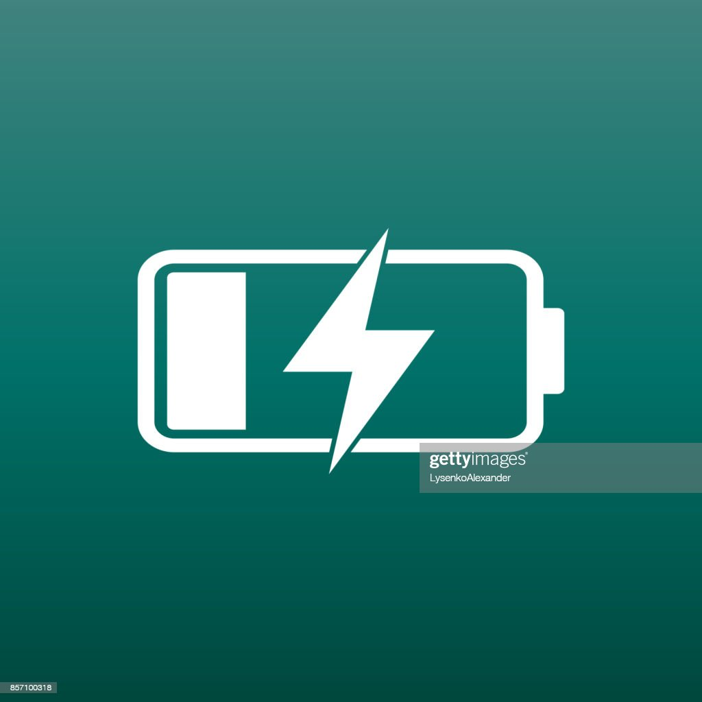 Battery Charge Level Indicator Vector Illustration On Green Background Art