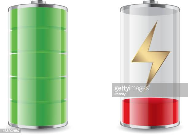 laden der batterie - leer stock-grafiken, -clipart, -cartoons und -symbole