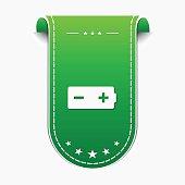 Battery Green Vector Icon Design