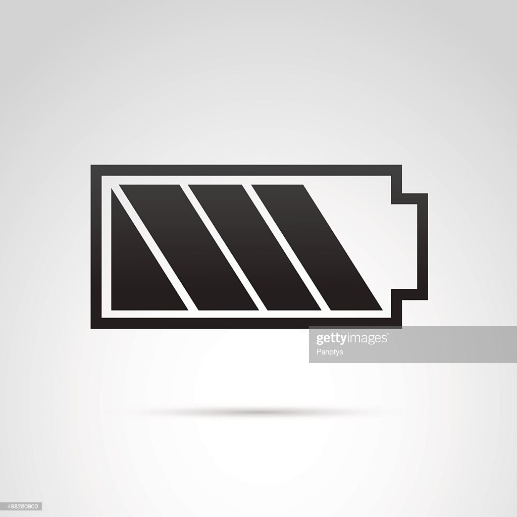Battery icon isolated on white background.
