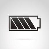 Battery icon isolated on white background.