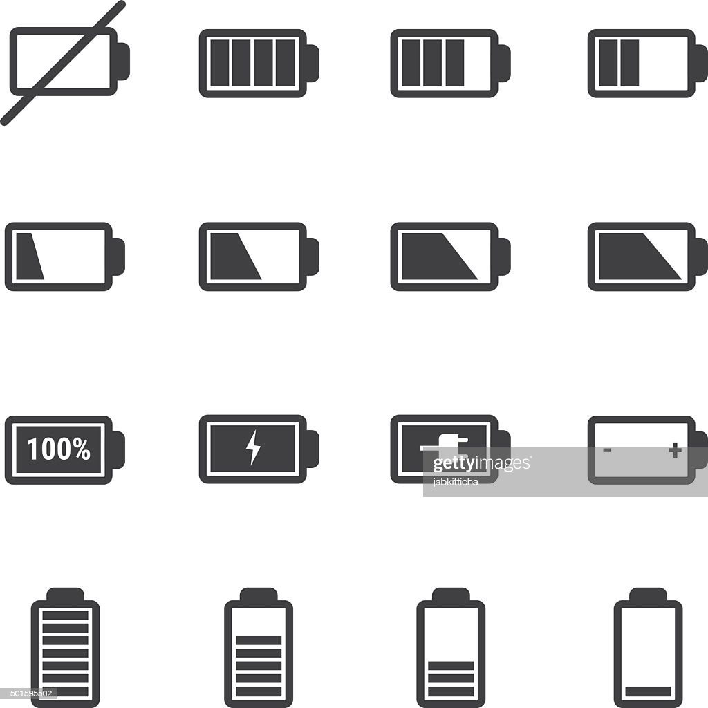 battery icon set