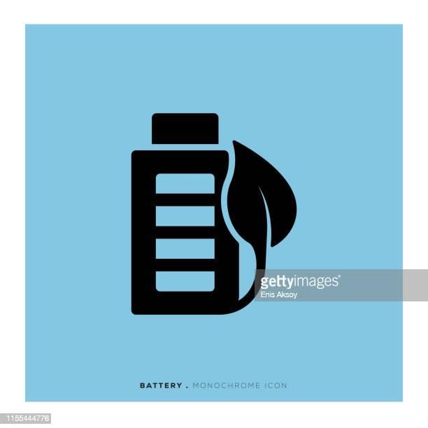 battery icon - alkaline stock illustrations