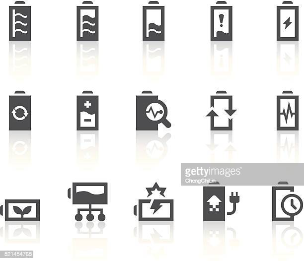 battery icons | simple black series - animals charging stock illustrations, clip art, cartoons, & icons