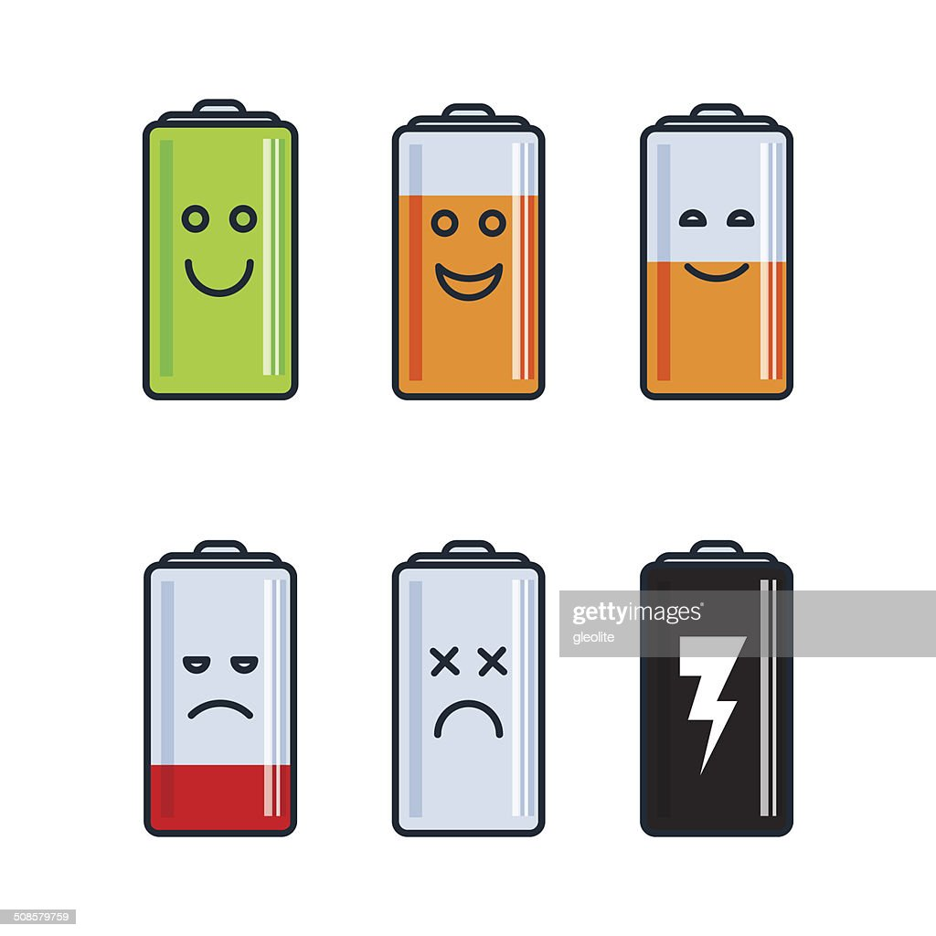 Battery indicator icons : Vector Art