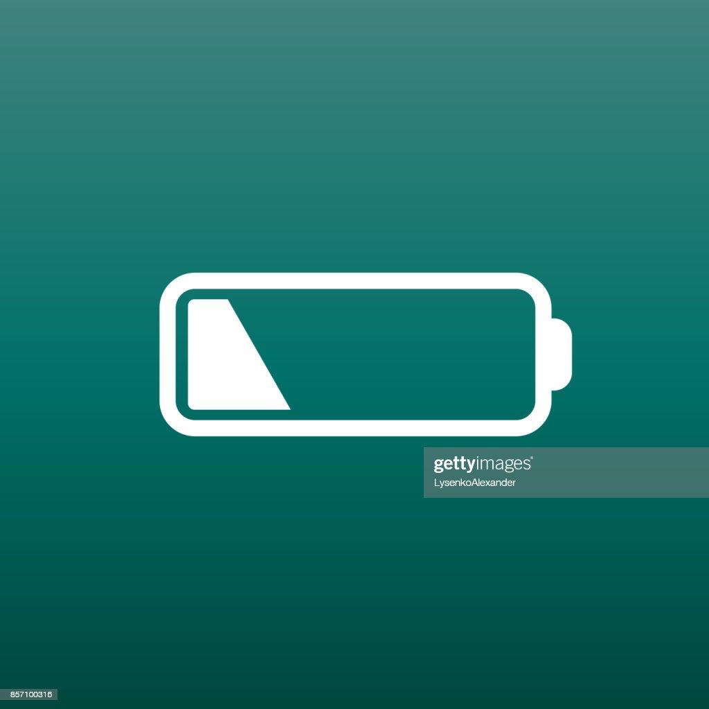 Battery Level Indicator Vector Illustration On Green Background Art