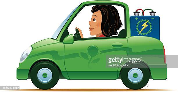 battery operated green car - car battery stock illustrations, clip art, cartoons, & icons
