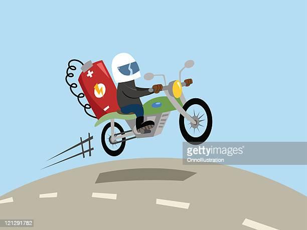 battery powered motorbike - motorcycle helmet stock illustrations, clip art, cartoons, & icons