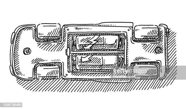 Batteriebetriebenes Spielzeug Auto Rückseite Zeichnung