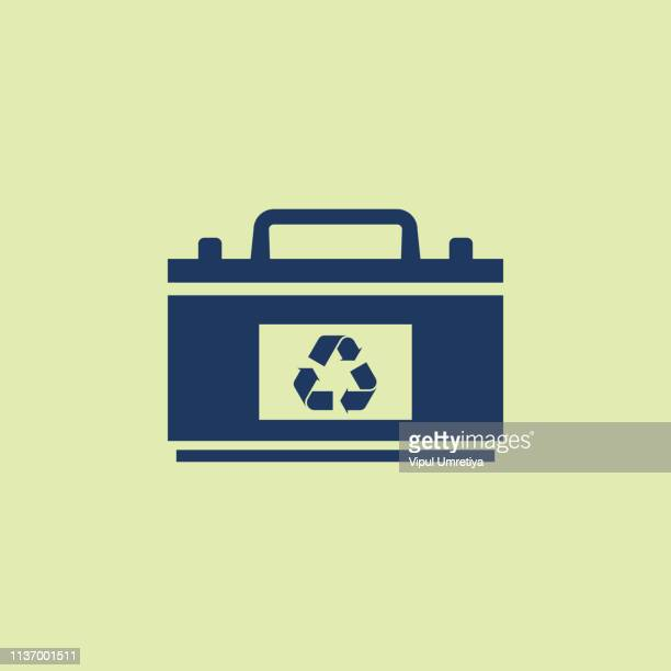 battery recycle - car battery stock illustrations, clip art, cartoons, & icons